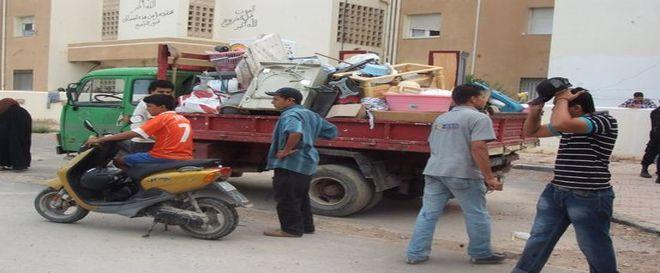 Tunisie- Photos : Evacuation par la force des logements de la SNIT à Raoued