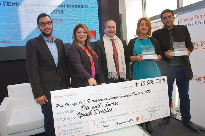 Orange annonce les deux lauréats du Prix de l'Entrepreneur Social Innovant Tunisien (POESIT)