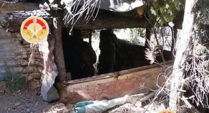 Tunisie – Photos : L'armée découvre un camp de terroristes au mont Mghilla