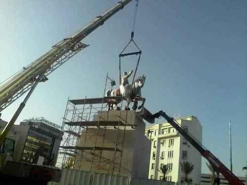 Tunisie- La statue de Bourguiba réinstallée au cœur de la capitale