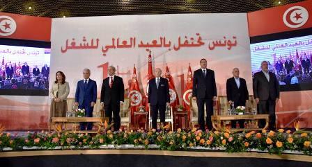 Tunisie – Mécontents, les syndicalistes boycottent la cérémonie officielle du premier mai