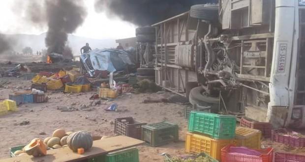 Drame de l'accident de la route: 7 cadavres calcinés à l'hôpital régional de Kasserine
