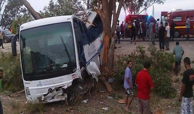 Quatre blessés dans l'accident d'un bus scolaire à la Manouba