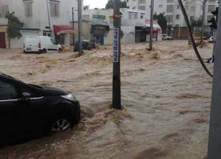 Tunisie – Les quantités de pluie enregistrée cet après midi sur les régions côtières