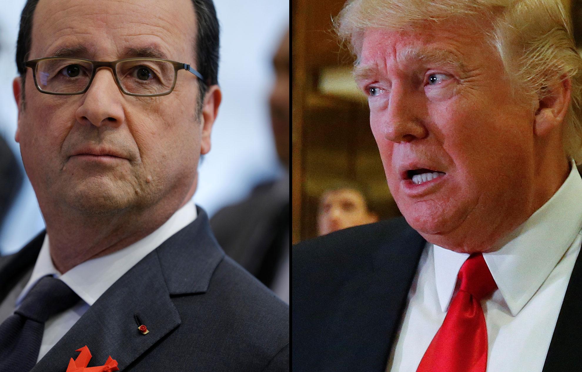 Magistrale leçon de François Hollande à Donald Trump pour sa sortie contre l'Europe