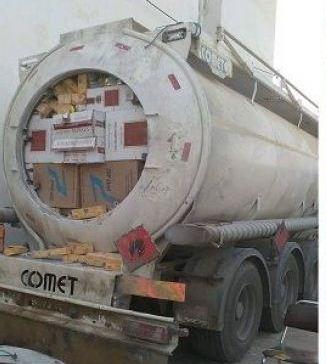 Une tentative de trafic de 140.000 cartouches de cigarettes dans une citerne déjouée