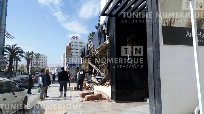 Tunisie [photos] : une partie du Duplex démolie par ordre municipal