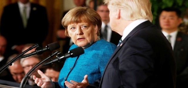 Donald Trump présente à Merkel une « addition » de 375 milliards de Dollars