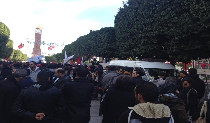 Tunisie r pression polici re contre les tudiants for Interieur ministere tunisie