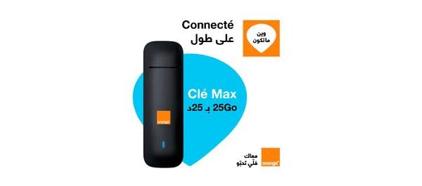 Orange lance le nouveau forfait Clé Max 4G