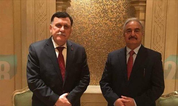 Libye: Rencontre de l'espoir entre Haftar et Al-Sarraj à Abou Dhabi