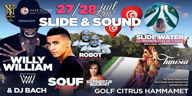 """Tunisie: Hammamet accueille le 1er Festival international """"Slide en Sound"""""""