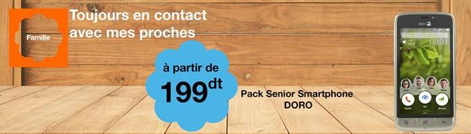 Le Smartphone Doro 8031, le Smartphone des seniors, disponible chez Orange Tunisie à partir de 199dt