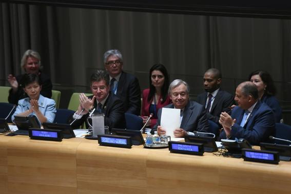 Nations unies: Signature d'un Traité interdisant l'arme nucléaire