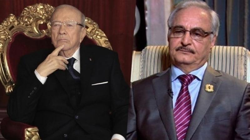 Tunisie[Vidéo+ Photos]: Le maréchal Khalifa Haftar chez Béji Caïd Essebsi