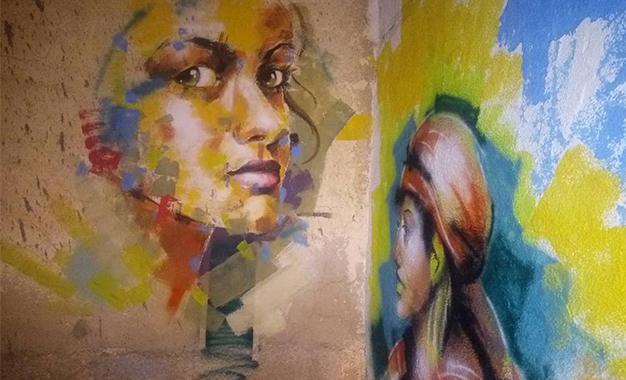 """Tunisie: Des Murs De """"Djbel Jeloud"""" Décorés Par Des Fresques De Peinture"""