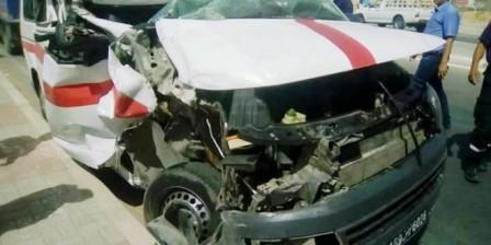 Tunisie – Autoroute A1 : Un mort et cinq blessés dans la collision entre un louage et un poids lourd