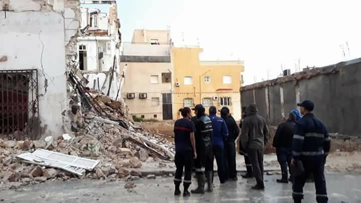 Effondrement d'un immeuble d'habitation vétuste à Sousse — Tunisie