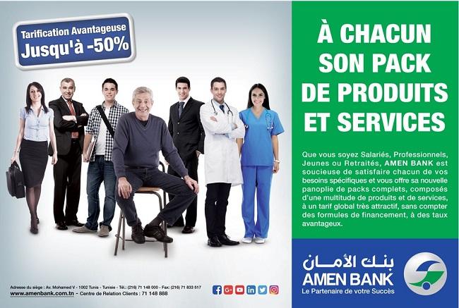 Amen Bank lance des nouveaux packs avec des avantages spécifiques