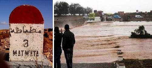 Tunisie – URGENT : Leur voiture a été emportée par un Oued en crue : Le délégué de Matmata et le chef du poste de la GN, portés disparus