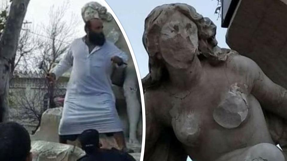 La statue d'Ain El Fouara vandalisée par un intégriste