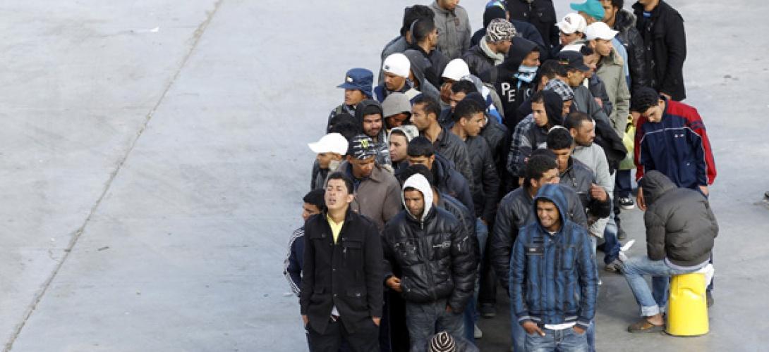 Des immigrés tunisiens en grève de la faim depuis trois jours à Lampedusa