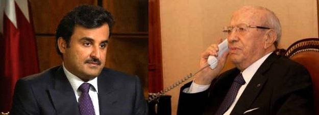 Tunisie – Le Prince Tamim du Qatar s'entretient au téléphone avec BCE