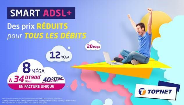 Promo TOPNET : des prix réduits pour plus de débits
