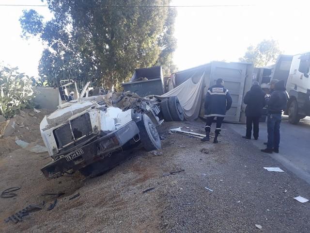 Tunisie: Deux blessés dans une collision entre un camion et un bus à Enfidha