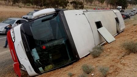 Tunisie – 16 touristes algériens blessés dans le renversement de leur bus en direction de Djerba