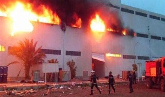 Tunisie: 800.000 sacs de ciment ravagés par un incendie dans une cimenterie à Gabès