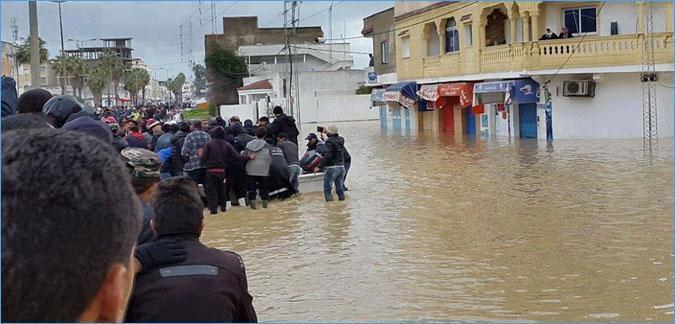 Tunisie: Evacuation de 26 personnes de la Manouba à cause des inondations
