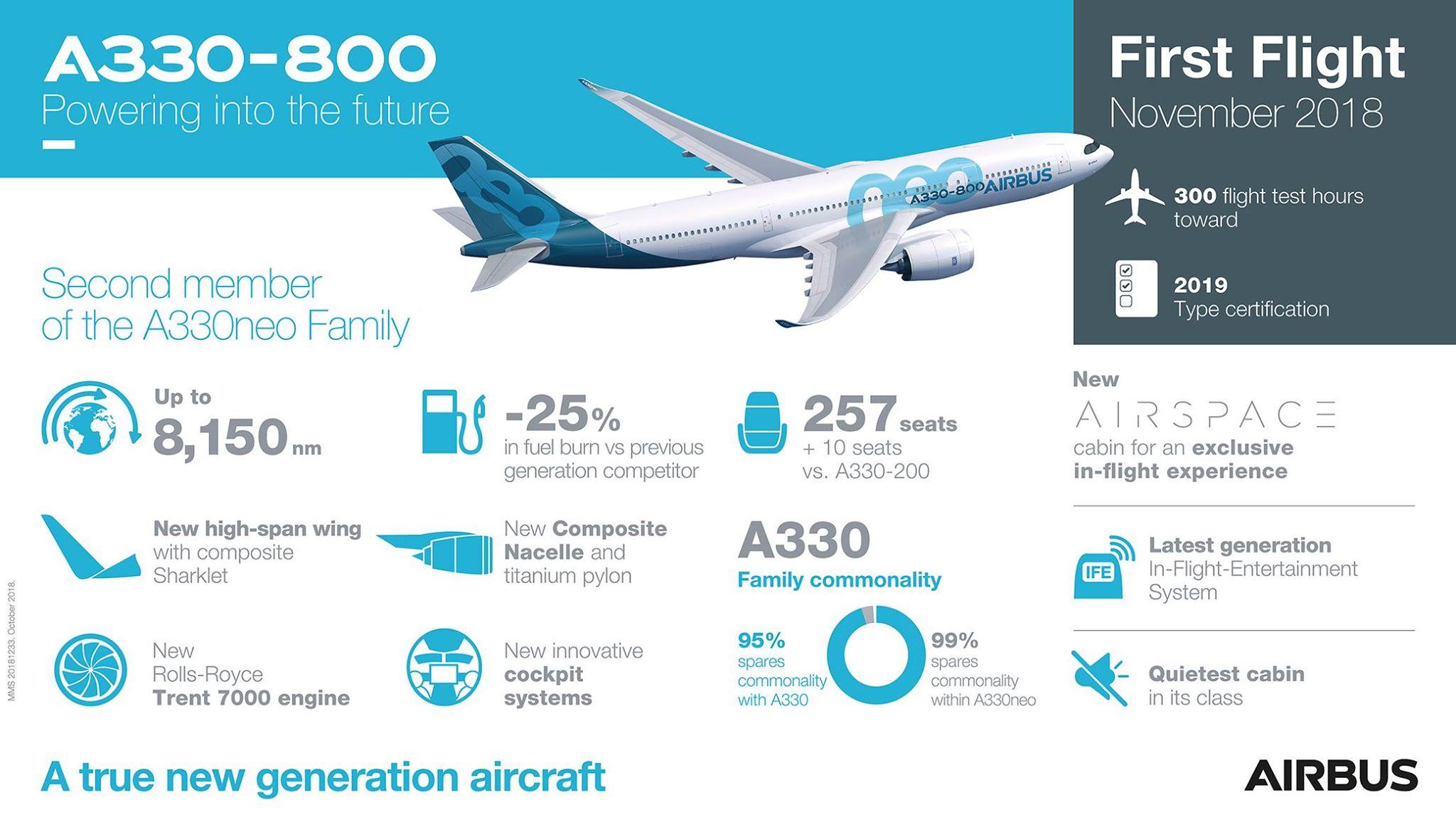 toulouse le premier airbus a330 800 d colle pour son vol inaugural. Black Bedroom Furniture Sets. Home Design Ideas