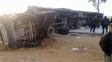 Tunisie: Circulation routière bloquée à Hammam-Sousse suite au renversement d'un camion