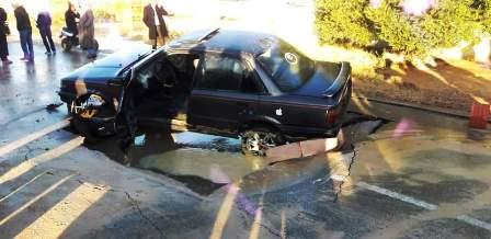 Djerba : La route s'effondre sous une voiture Jerba