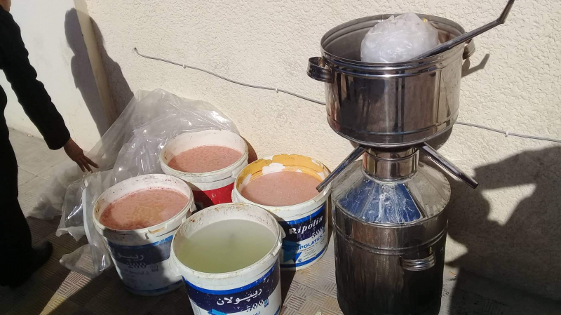 Tunisie-[photos] saisie de 60 litres de Tequila artisanale à Menihla
