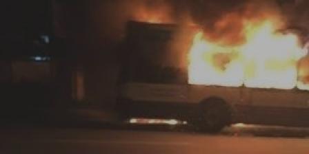 Tunisie – Le Bardo: Un bus de la Transtu calciné suite à un incendie accidentel