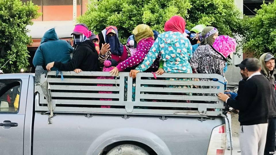 """Tunisie- Un mouvement protestataire sous le signe """"Non aux camions de la  mort"""" à Sidi Bouzid"""
