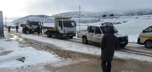 Tunisie – Retour de la neige sur les hauteurs de Sakiet Sidi Youssef et Thala
