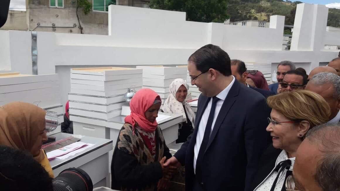 Tunisie-[photos] Chahed inaugure le centre de rayonnement de la jeune fille rurale dans la région de Ain El Bayya