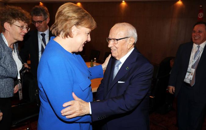 Décès de BCE- Angela Merkel adresse une lettre de condoléances à la Tunisie