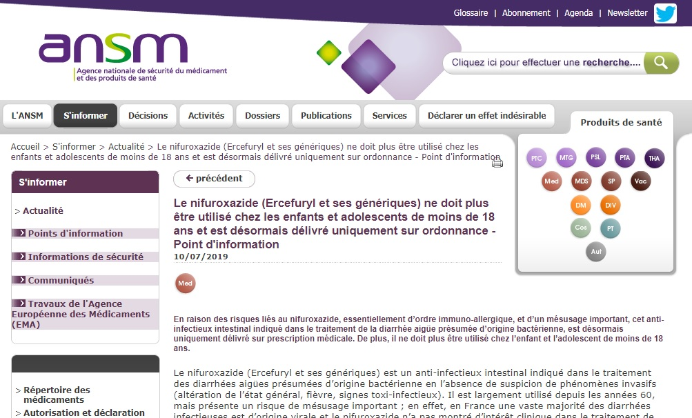 Tunisie – ATTENTION : Ne donnez plus de l'Ercéfuryl à vos enfants !