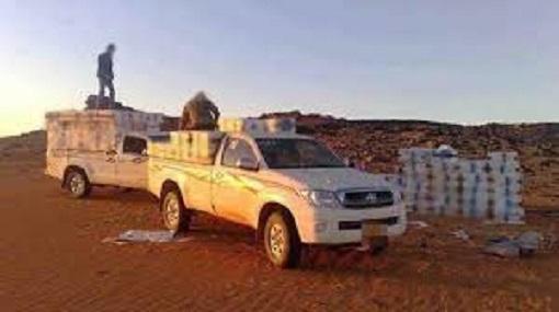 Tunisie: Les unités militaires interceptent deux véhicules de contrebande à Ramada