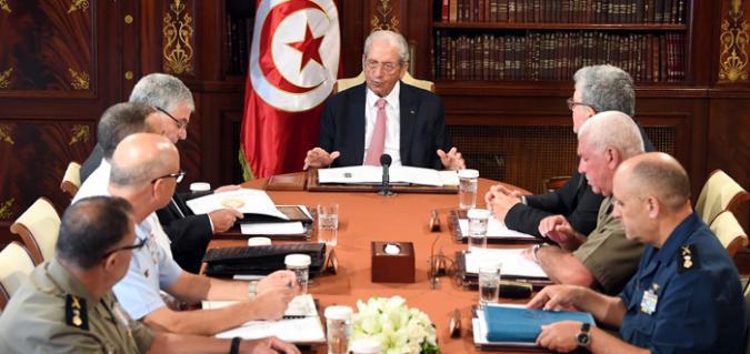 Tunisie – Abdelkarim Zebidi assiste au haut conseil de sécurité de l'Etat à Carthage