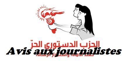 Tunisie – La Parti Destourien Libre avertit les médias et les journalistes