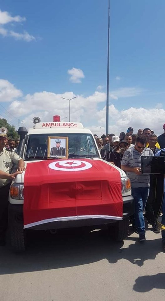 Tunisie: Cérémonie funéraire du martyr Nejiballah Cherni au Kef
