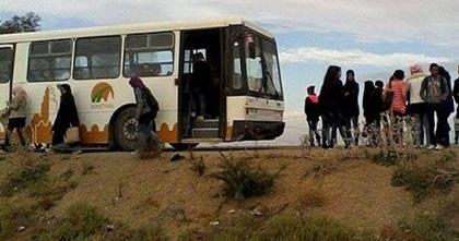 Tunisie: Des habitants de Haffouz retiennent un bus pour protester contre l'absence de moyen transport scolaire pour leurs enfants
