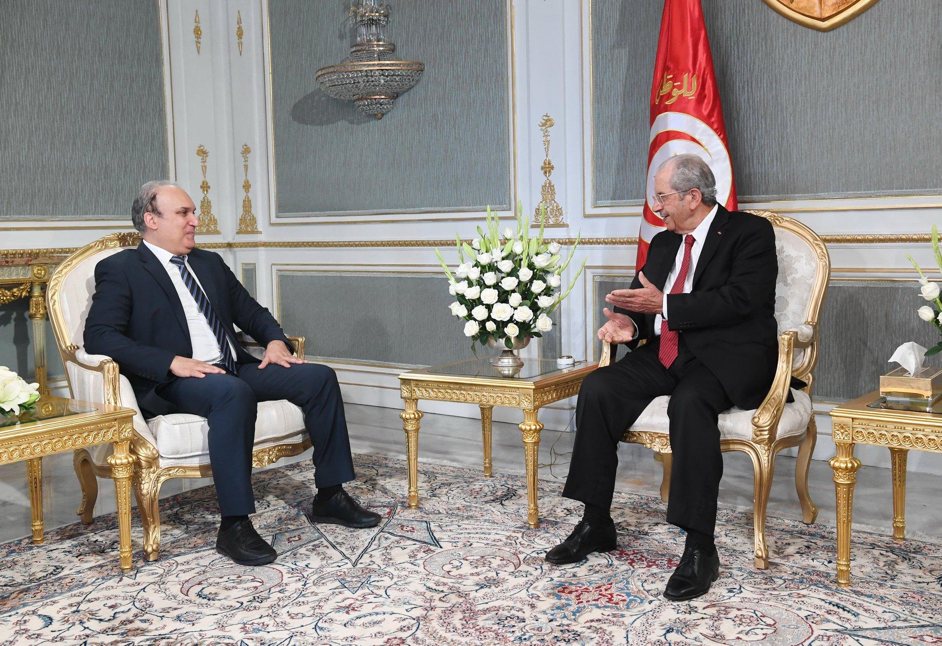 Tunisie- Mohamed Ennaceur reçoit Nabil Baffoun