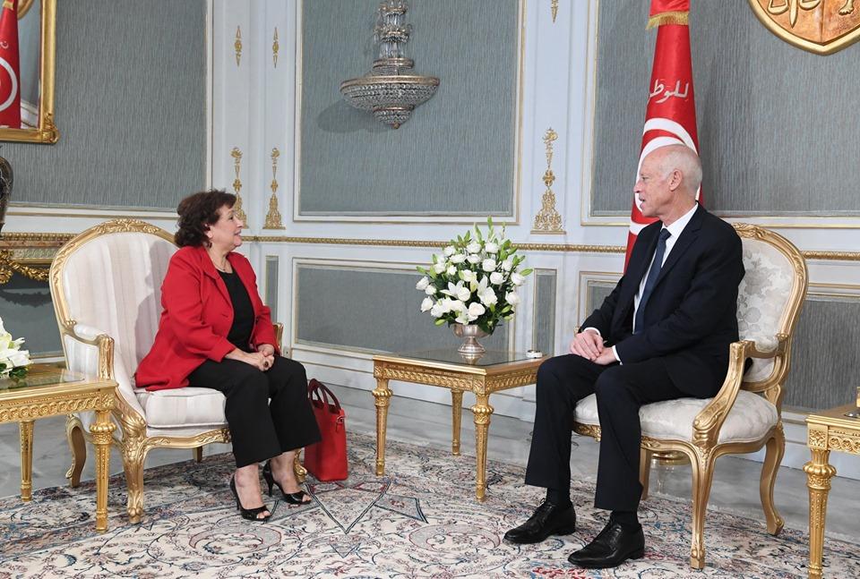 Tunisie- Le président de la République reçoit Sihem Ben Sedrine