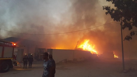 Tunisie: Un pompier brûlé au second degré dans l'incendie de l'usine de la RNTA à Kairouan